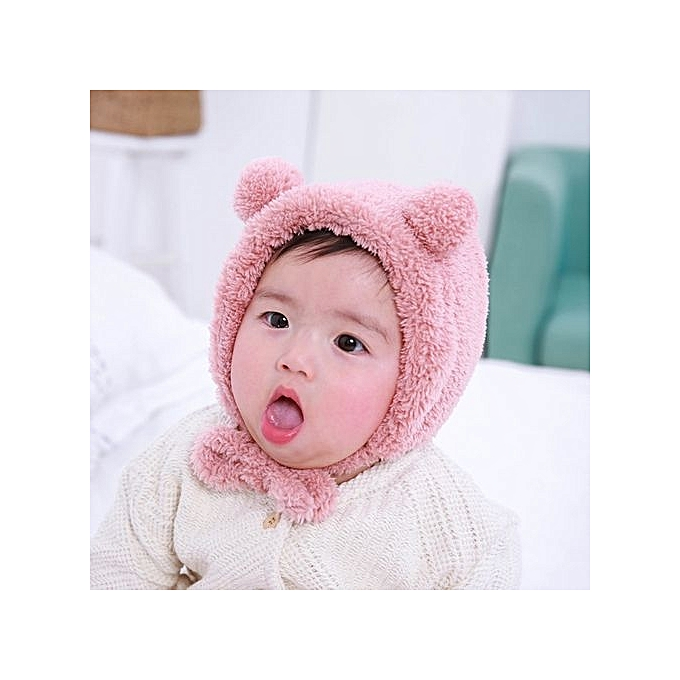 ... Baby Toddler Girls Boys Warm Hat Winter Beanie Hat Cute Bear Ear Plush  Cap PK ... 567dbd28ac8b