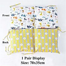 PILLOW BUMPER FOR COT / COT BED made from 6 cushions BEAUTIFUL