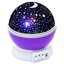 BRELOBG DC 5V Star Light Rotating Projector  Lamp for Kids Bedroom PURPLE