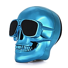 X18 Skull Bluetooth Speaker Portable Wireless Player  - Blue