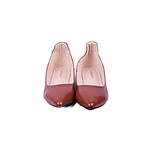 Brown Slip On Women's Doll Shoes