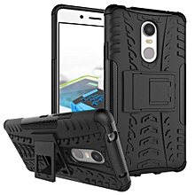 For Lenovo K6 Note Case, 3 in 1 Tyre Grain Shockproof Phone Housing With Foldable Stand Holder TPU + PC Back Cover Case for Lenovo Vibe K6 Note