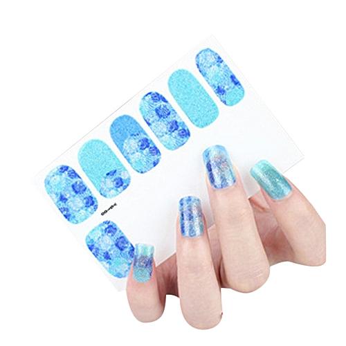 12pcs New Diy Nail Wraps Stickers Patch Foils Art Decals T