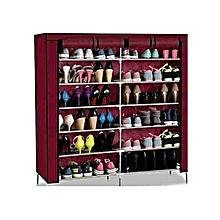 PortableShoe Rack - 36 pairs - Maroon