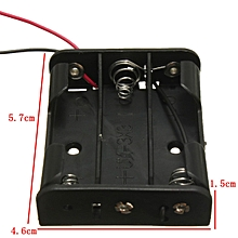 4.5V AA UM-3 Battery Box Case Storage Clip In 3 Cell Holder With Wire Black New