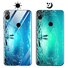 "Huawei Y9 (2019) Case,Dream Luminous Tempered Glass Back Case Non-Slip TPU Bumper Shell Protection Case for Huawei Y9 (2019)/Enjoy 9 Plus 6.5"" -Eternal Sea"