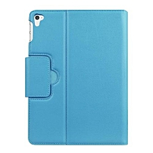Case Protective  Folding Stand Leather Case Cover For Ipad Pro 9.7inch BU- Blue