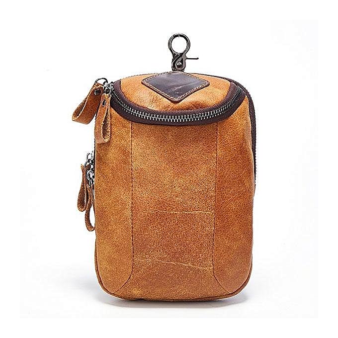 735d0f5a0c6f Men Genuine Leather Crossbody Bag Riding Hip Bum Waist Pack Small Messenger  Bag with Shoulder Strap