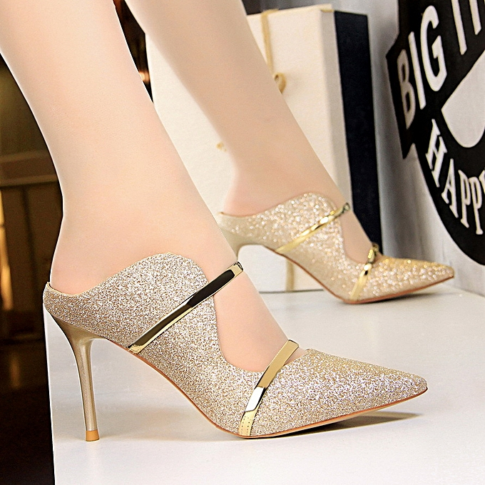 7f1ff4fde21803 Women Fashion Sexy Nightclub Shoes Stiletto High-Heeled Sequin Cloth With  Summer Sandals And Slippers ...