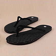 Hiamok_Women Fashion Summer Flat Flip Flops Sandals Loafers Bohemia Shoes BK 38