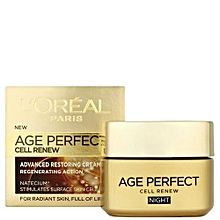 Age Perfect Cell Renew Advanced Restoring NIGHT Cream - 50ml.