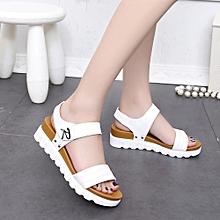 ee16b7828 Summer Sandals Women Aged Flat Fashion Sandals Comfortable Ladies Shoes(EU  SIZE)