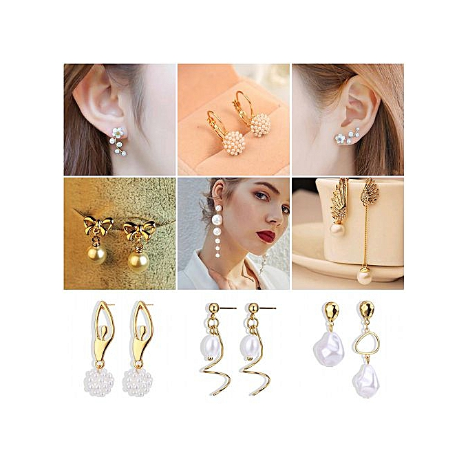 e2e6c11524c4e Trendy Elegant Created Big Simulated Pearl Long Earrings Pearls String  Statement Drop Earrings For Wedding Party Gift