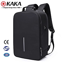 Black Anti theft Laptop bag