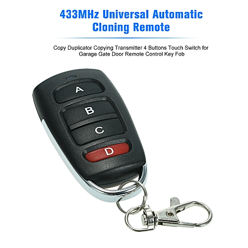 Access Control 433mhz Wireless Remote Control Copy Code 4 Buttons Touch Switch Copying Transmitter Cloning Duplicator Garage Opener Control Key