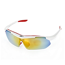 10pcs Windproof Cycling Glasses With Polarized PC Lens - White