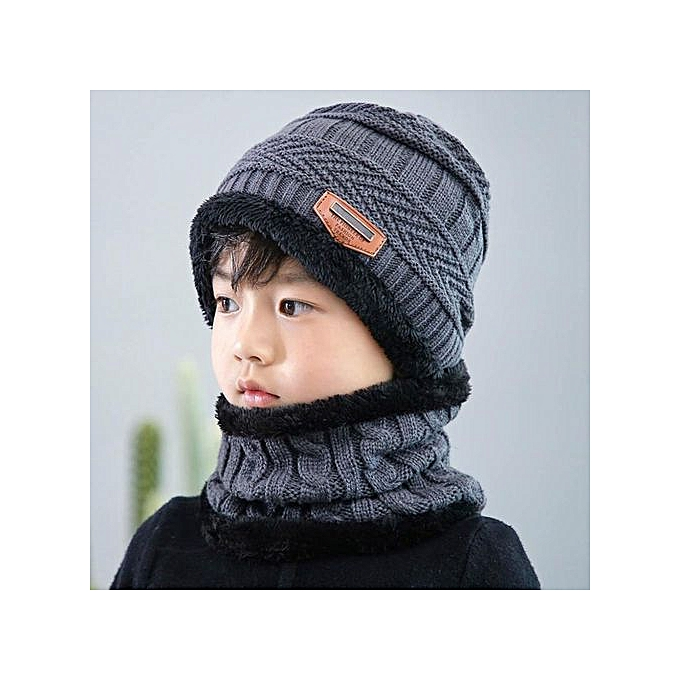 6706dd3fb Parent Child Warm Winter Beanies Knitted Hat And Scarf For 3-12 Years Old  Girls And Boys Students Hats Caps Hat