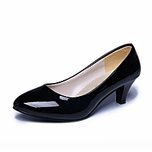Nude Shallow Mouth Women Office Work Heels Shoes Elegant Ladies Low Heel BK/35