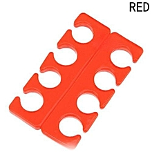 Hequeen 1 Pair Silicone Soft Form Toe Separator/Finger Spacer For Manicure Pedicure Nail Tool Flexible Soft Silica