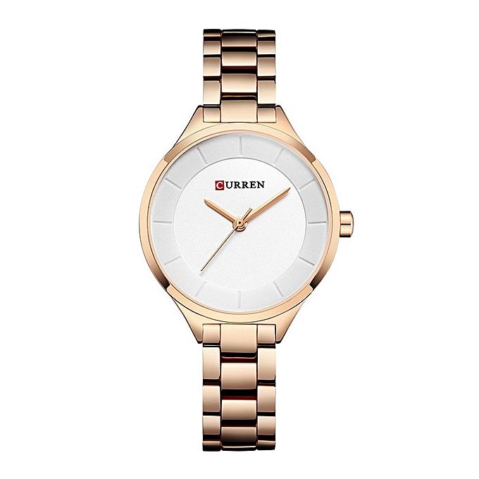 60b67f9c792c1f CURREN High Quality Female Watch Ladies Gold Casual Fashion Quartz Watch  Ladies(RoseWhite)