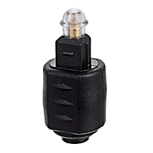 Optical Toslink Male To 3.5mm Toslink Female Audio Adapter - Black