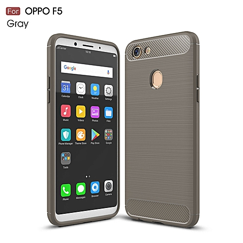 best website 78746 a3658 For OPPO F5 Case For OPPO F5 Cover Luxury Carbon Fiber Back Cover For OPPO  F5 Phone Cases For OPPO F5 Phone Back Shell 321007 (Grey)
