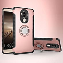 KZ Slim Fit Hybrid Dual Layer Armor Shock Absorption Rugged Defender with Ring Holder Kickstand Drop Protection Soft Rubber Bumper Case Cover for Huawei Mate 9  XYX-S