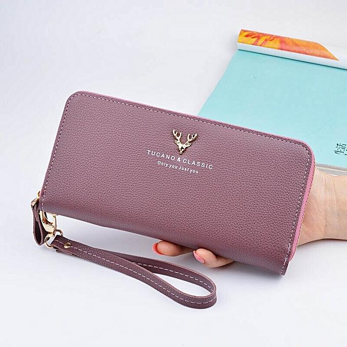 03c5b0e834e54e Designer Leather Phone Wallets Women Purses Long Zipper Red Coin Wallet  Female Money Bag Credit Card