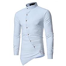 c55e314d6207e Elegant Party Sexy Men  039 s Casual Long Sleeve Shirt - White