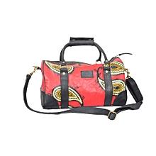 Ankara/Leather ladies handbag