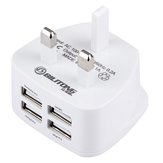35e0a5cb8d33bd ... Bilitong 4 Ports Usb Portable Travel Charger Universal Usb Power  Adapter ...
