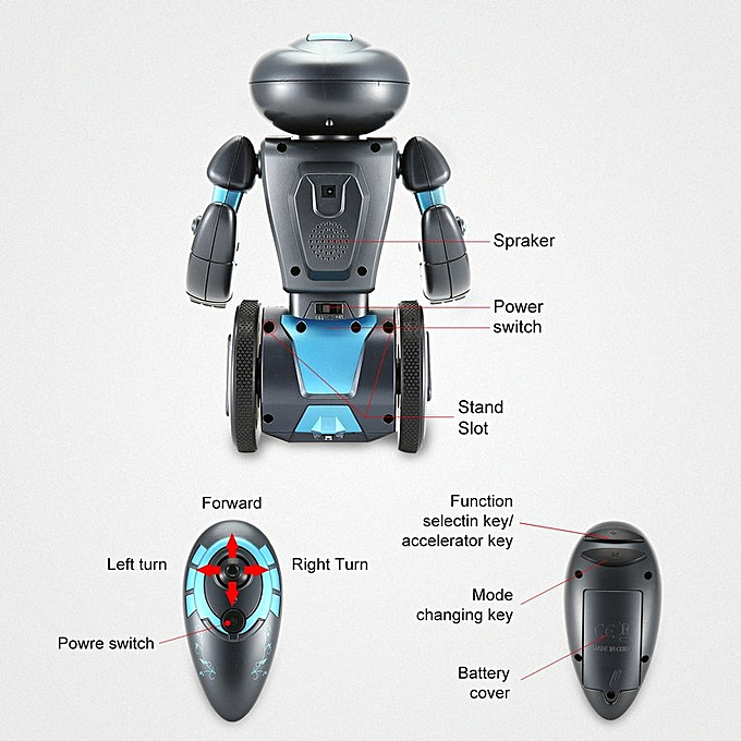 Intelligent Programming Remote Control Robot Smart Self Balancing RC Robot  Black