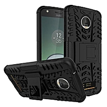 "For Moto [Z Play] Case, Hard PC+Soft TPU Shockproof Tough Dual Layer Cover Shell For 5.5"" Moto [Z Play], Black"