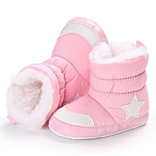 bluerdream-Baby Girl Boy Soft Booties Snow Boots Infant Toddler Newborn Warming Shoes-Pink