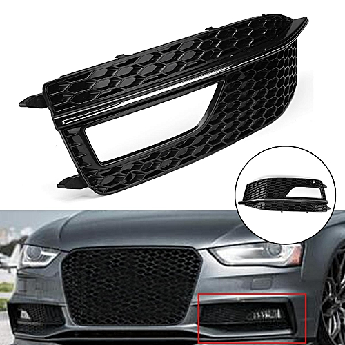 Front Left Bumper Fog Light Grille Cover For Audi A4 B8 S4 S Line Facelift 12 15