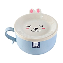 Cartoon Lunch Boxes Lunchbox Stainless Steel Bowl Instant Noodles blue