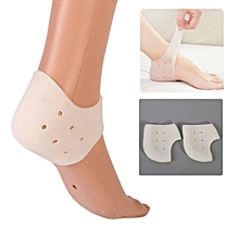 Gel heel cup sock for cracked feet