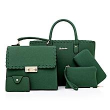 4 in 1 Green Velvet Women Handbag set