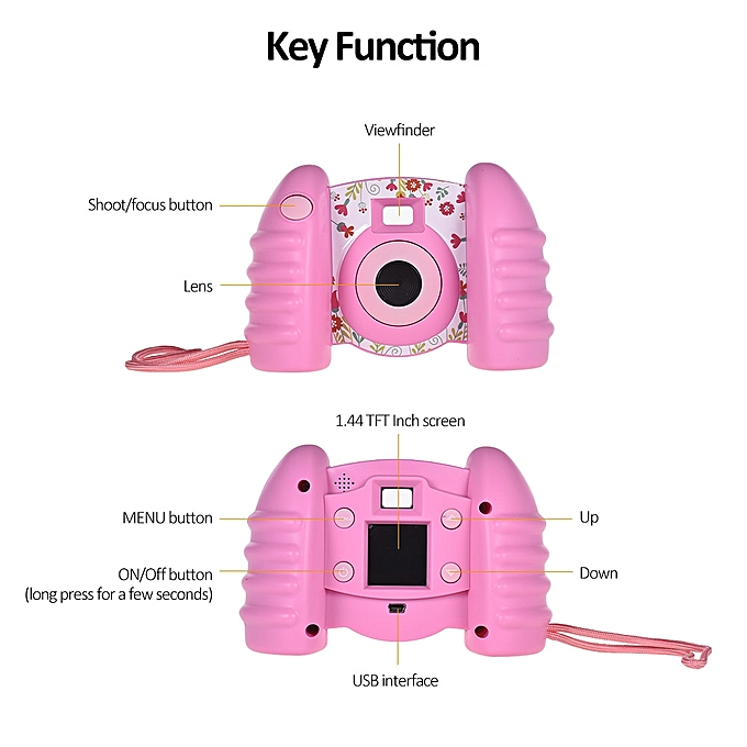 Kids Digital Camera Photo Video Sport Camcorder Dv With 1.44 Inch Tft Screen For Boy Girl Kids Birthday Holiday Toy Gift Blue Consumer Electronics Camcorders
