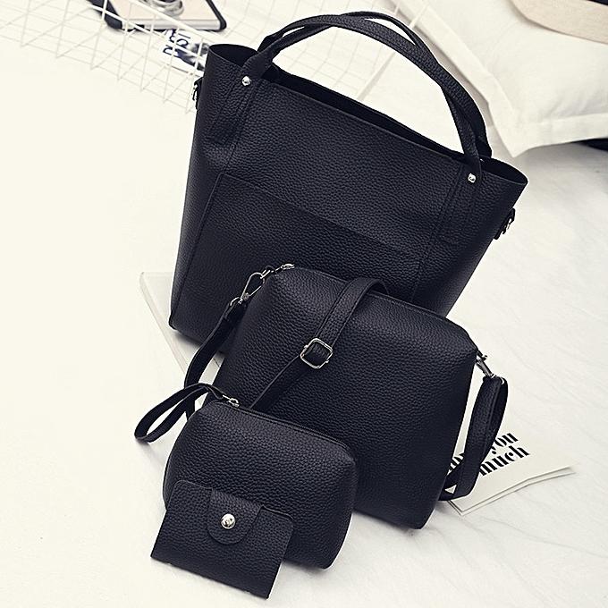 4502a0cc4e guoaivo Women Four Set Handbag Shoulder Bags Four Pieces Tote Bag Crossbody  Wallet ...