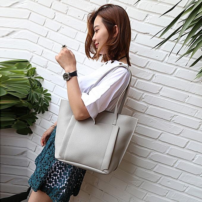 1da3a6b4af Fashion guoaivo Women Four Set Handbag Shoulder Bags Four Pieces Tote Bag  Crossbody Wallet