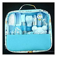 Classy Baby Grooming Nursery Healthy Kit with a clear pouch - Blue