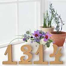 Wooden Wedding Table Seat Card Number 100mm High Wood Cutout Table Decor