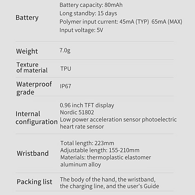 Color Screen Smart Bracelet M5 ECG Rate Exercise Step Bracelet Sports Watch  black