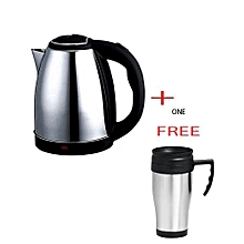Kettle (Electric) plus A free Travel Mug   - Silver
