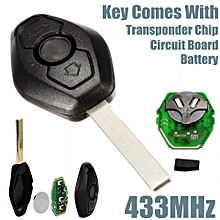 Remote Key Fob Keyless Entry 433MHz TRANSPONDER CHIP For BMW E46 E39 3 5 7 Z3 M3