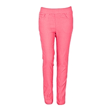 Girls Red Fitting Cotton Stretch Pants