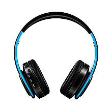 Headset Bluetooth Headset Foldable Trendy Sports Card FM Wireless Headset Black+blue