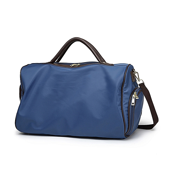 Women Nylon Travel Bag Sport Gym Weekender Duffle Bag with Shoes Compartment ca5660c33f26d