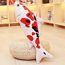 KCASA KC Taisho Showa Red White Gibel Carp Golden Koi Fish Stuffed Plush Toy Cotton Goldfish Cushion